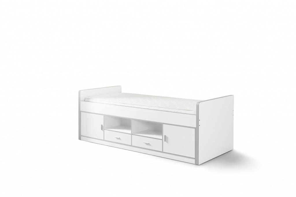 Vipack Eenpersoonsbed Bonny wit (90 x 200)