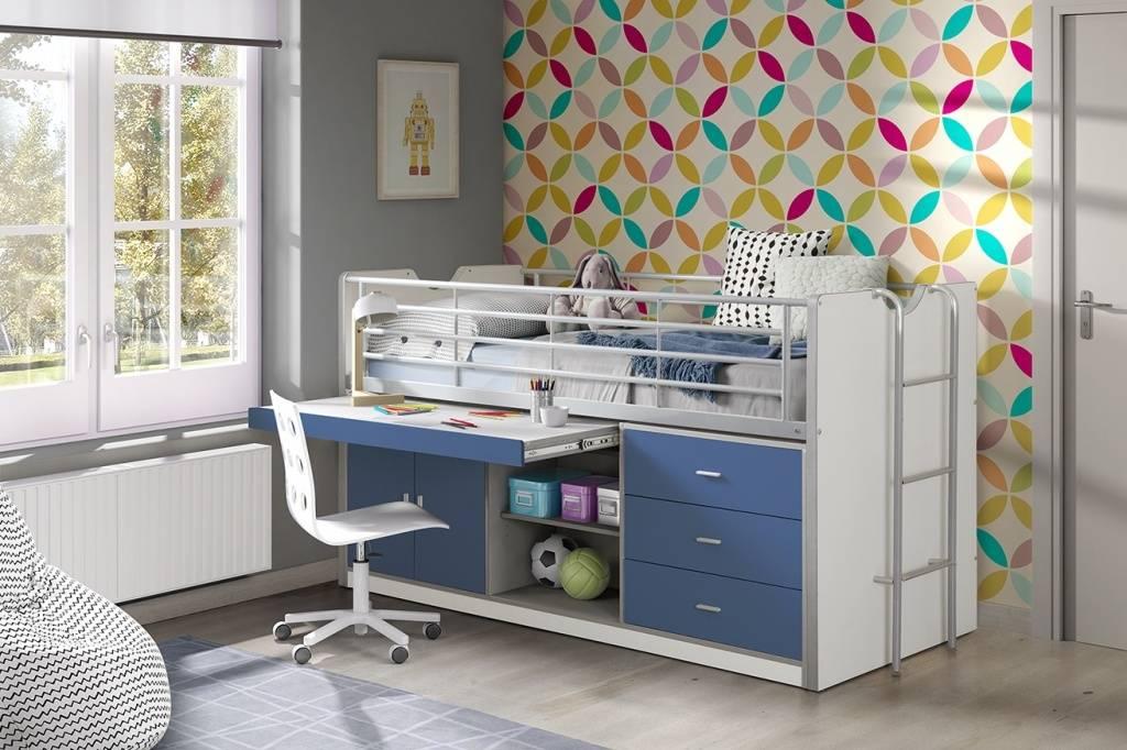 Vipack Bonny halfhoogslaper Blauw (90 x 200)