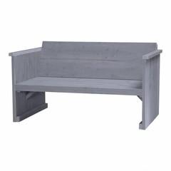 Steigerhouten loungebank 2 zits beton grijs