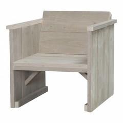 Steigerhouten loungestoel zand