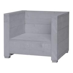 Steigerhouten loungestoel Varia beton grijs
