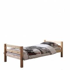 Pino eenpersoonsbed houtskleur (90 x 200)