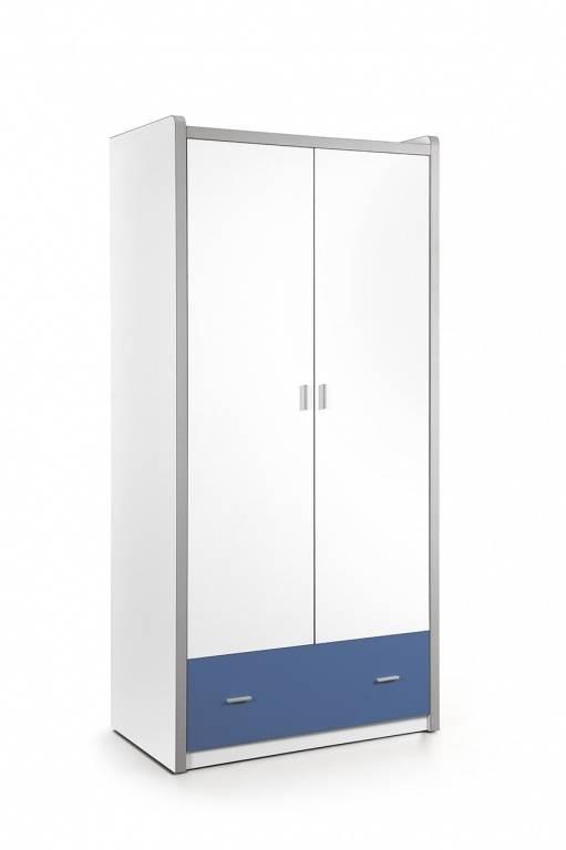 Vipack Bonny 2 deurs kledingkast blauw