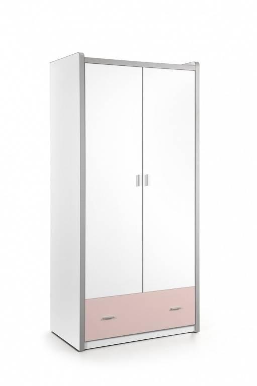 Vipack Bonny 2 deurs kledingkast licht roze