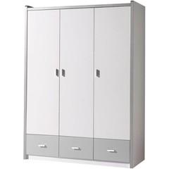 Bonny 3 deurs kledingkast zilver