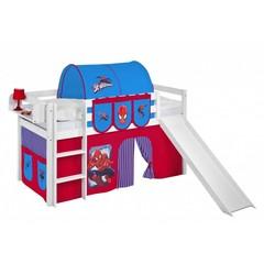 Halfhoogslaper JELLE Spiderman met glijbaan