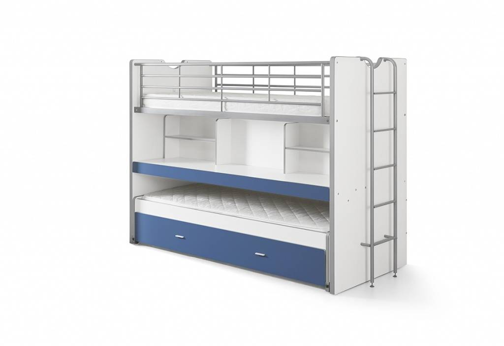 Vipack Bonny stapelbed blauw (90 x 200)