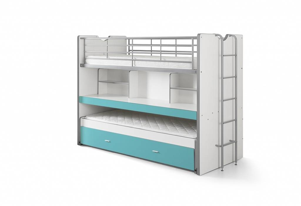 Vipack Bonny stapelbed turquoise (90 x 200)