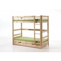 Vipack Pino stapelbed houtskleur 180 cm