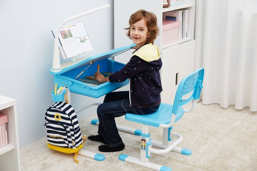 Vipack Kinderbureau blauw