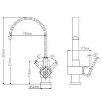 Design keukenkraan C-uitloop