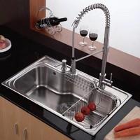 Rvs keukenkraan met professionele handdouche