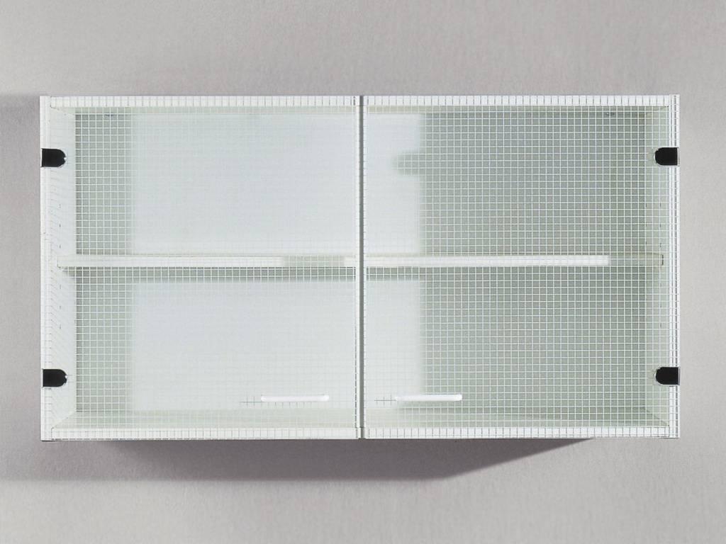 Bovenkast Ringo 2 glasdeuren wit