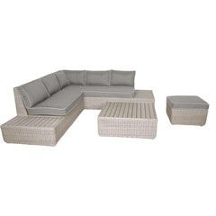 Wicker loungeset hoekbank Aura