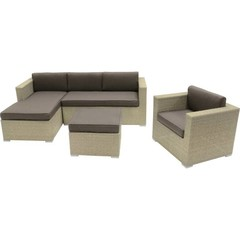 Wicker lounge hoekbank Jazz Pebble