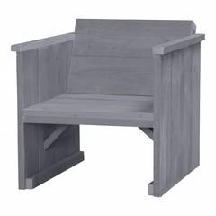Steigerhouten loungestoel beton grijs