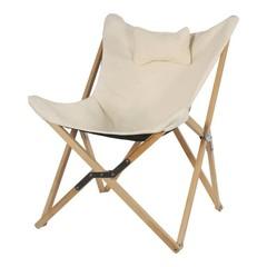 Vlinderstoel hout met canvas doek1