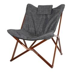 Vlinderstoel hout met 600D polyester doek