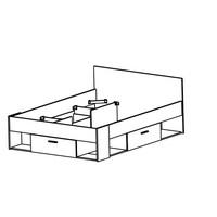 Twijfelaar bed Chicago (140 x 190/200) - Wit