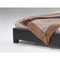 Zwart tweepersoonsbed (160 x 200) - Roma