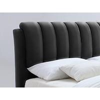 Twijfelaarbed Bedoni zwart 140x200