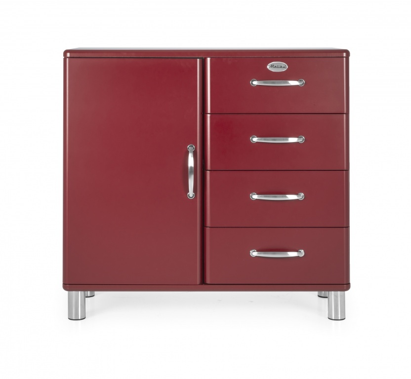 Tenzo Tenzo Malibu dressoir bordeaux 4 laden