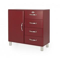 Tenzo dressoir Malibu 4 laden maroon