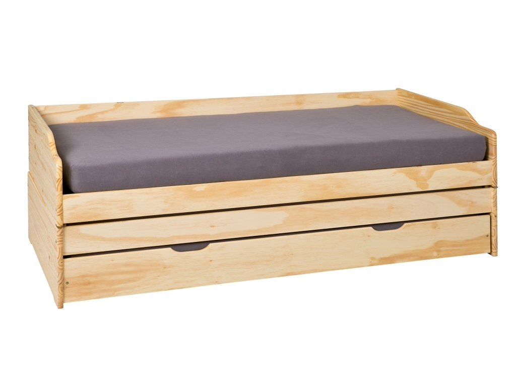 Eenpersoonsbed Lotar 90 x 200 bruin