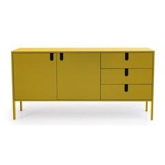 Tenzo Uno dressoir geel 3 laden