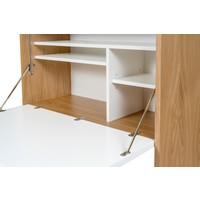 Woodman Loma desk eiken/wit