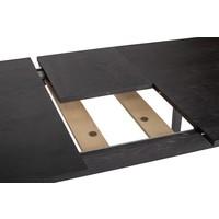 Woodman Skagen eetkamertafel zwart uitschuifbaar