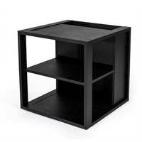 Woodman Sidetable Cube zwart