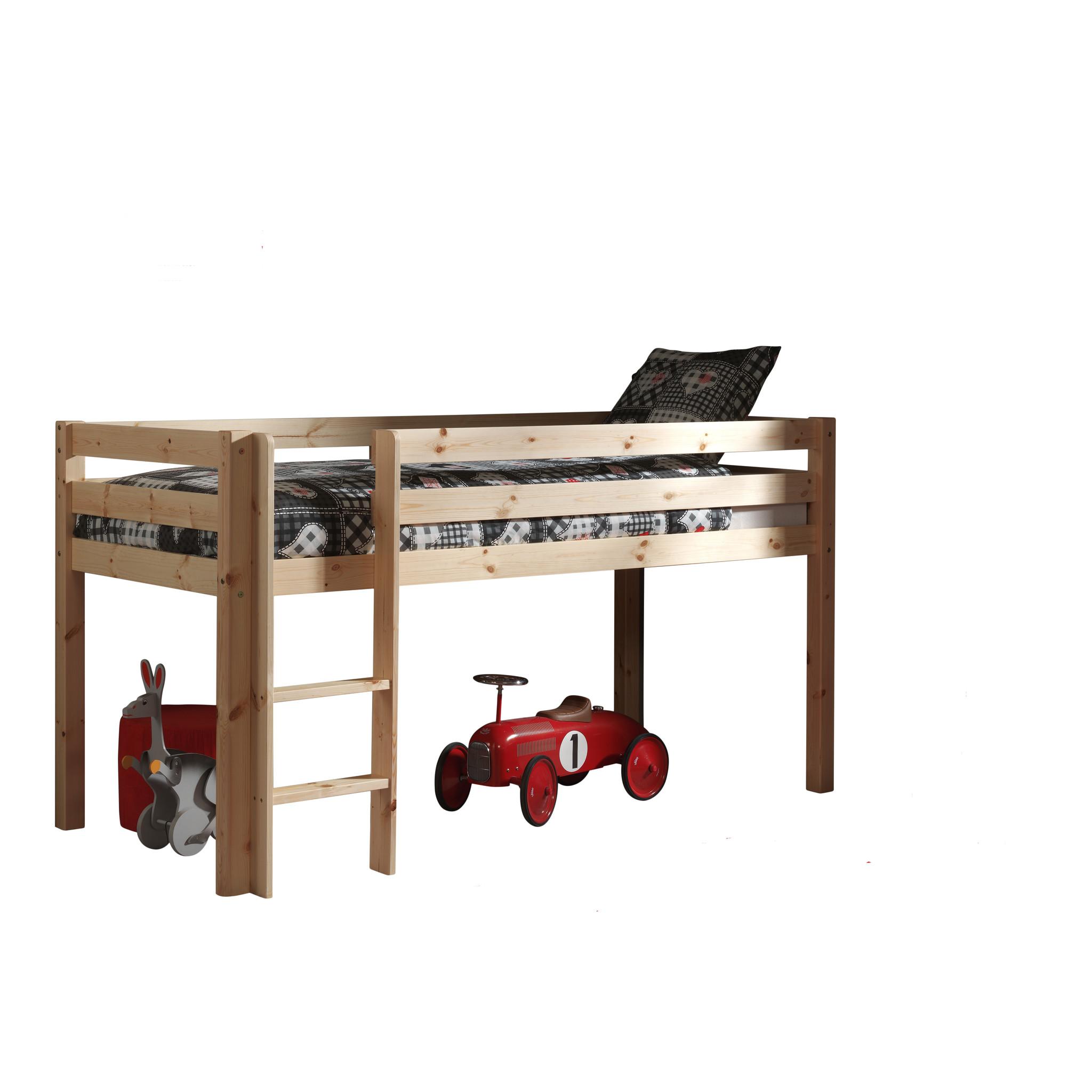 Vipack Hoogslaper Pino houtkleur  (90 X 200)