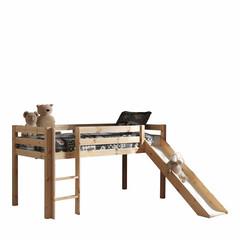 Hoogslaper Pino houtkleur glijbaan  (90 X 200)