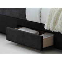 Tweepersoonsbed Babano (160 x 200) - Zwart