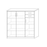 Commode 3-2 Spacio wit