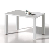 Eetkamertafel Elisa 140 x 80 cm hoogglans wit