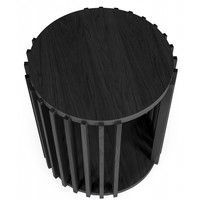 Woodman Side table Drum zwart