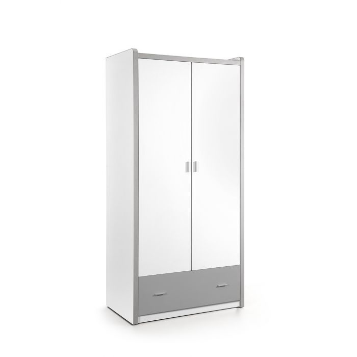 Vipack Bonny 2 deurs kledingkast zilver
