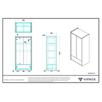 Vipack Bonny 2 deurs kledingkast turquoise
