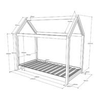 Vipack Huisbed Cabana wit 70x140