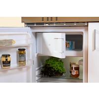Respekta Mini keuken Levin 100 cm grijs met RVS kookplaat en apothekerskast