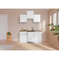 Keuken Luis met walnoot werkblad wit 150 cm