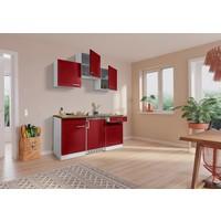 Respekta Keuken Luis met walnoot werkblad rood 150 cm