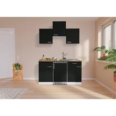 Keuken Luis met walnoot werkblad zwart 150 cm