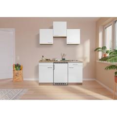 Keuken Luis met eiken werkblad wit 150 cm