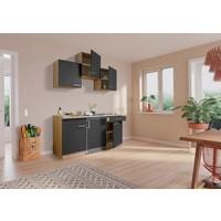 Respekta Keuken Luis met eiken werkblad grijs 150 cm