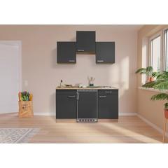 Keuken Luis met eiken werkblad grijs 150 cm