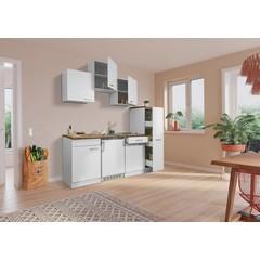 Keuken Luis met walnoot werkblad 180 cm wit