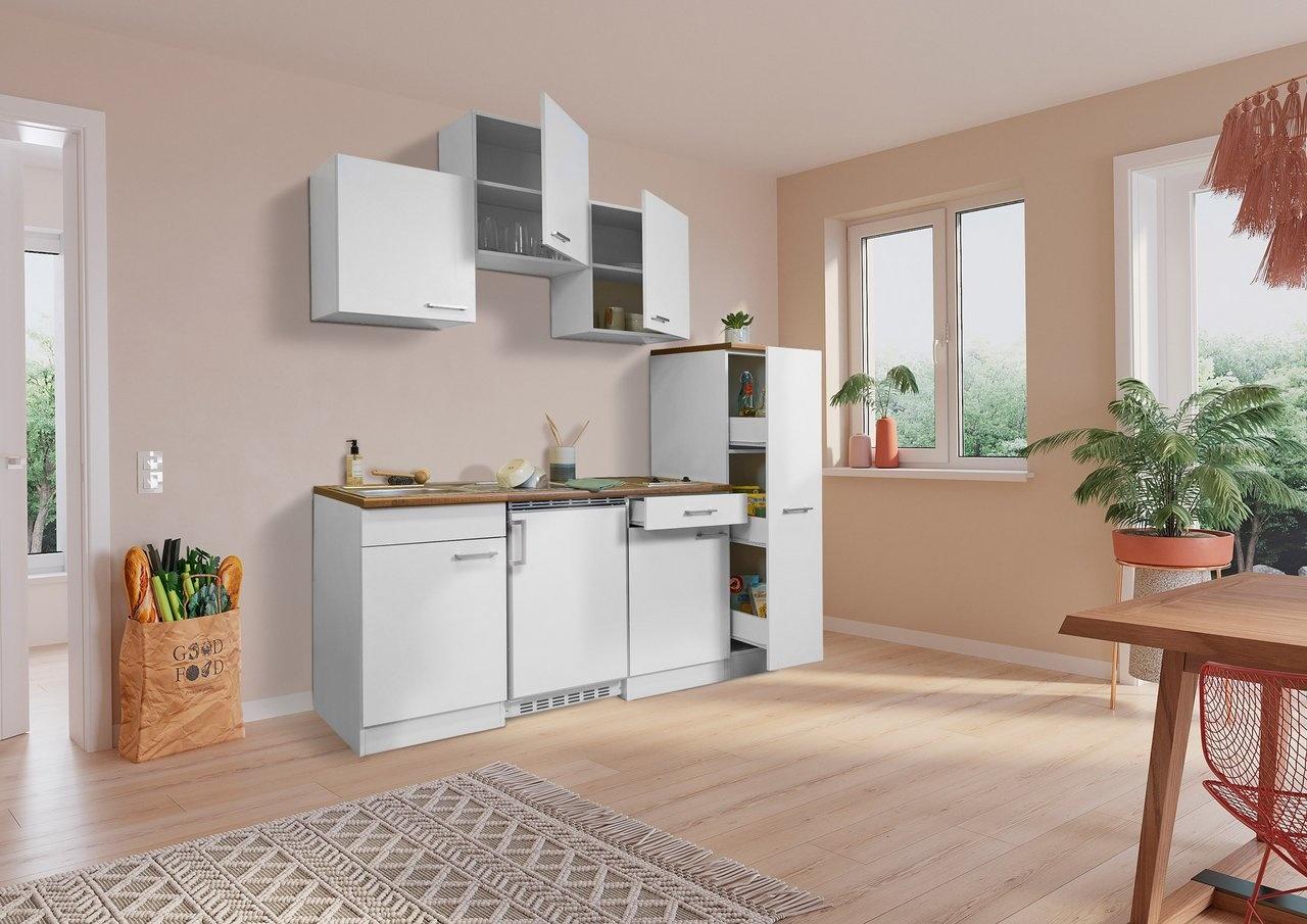 Respekta Keuken Luis met walnoot werkblad 180 cm wit
